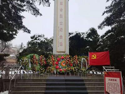 """甘肃临夏经济开发区举行""""清明祭英烈""""活动"""